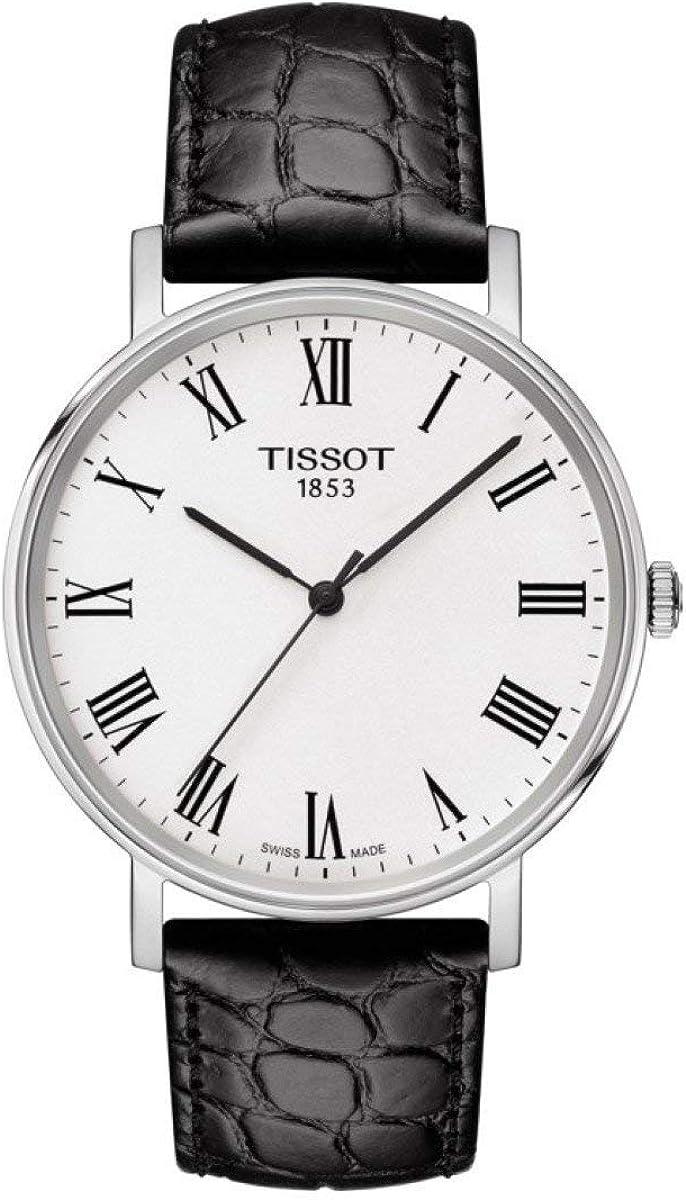 Tissot Reloj Analógico para Unisex Adultos de Cuarzo con Correa en Cuero T1094101603301