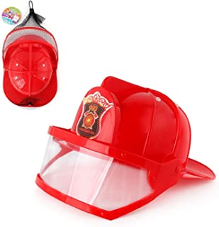طقم رجل الإطفاء YOUPIN إكسسوارات رجل الإطفاء خوذة لرجال الإطفاء، مدفع مياه صنبور طفاية حريق لعبة فانسي دريس بارتي زي (اللو...