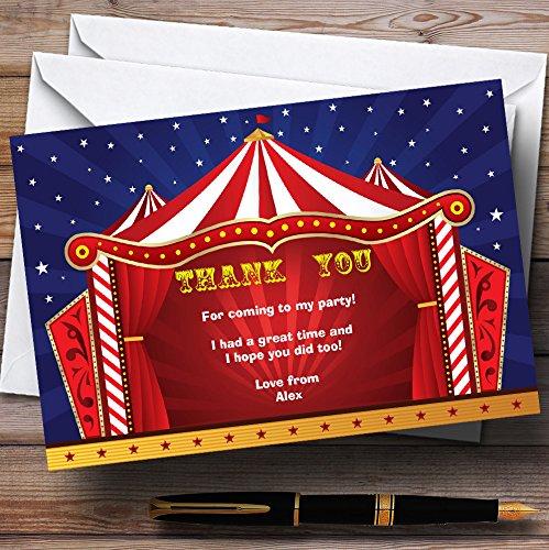10 x Uitnodigingen Circus Tent Gepersonaliseerde verjaardagsfeestje Bedankkaarten