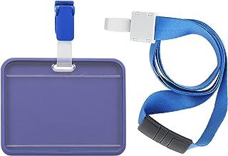 RedBee Porte-badge d'identification en silicone avec ouverture de sécurité pour le cou et les pinces crocodiles, en plasti...