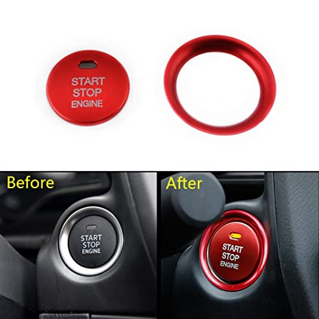 Engine Start Push Button Console Switch Cover Trim For Mazda CX5 CX3 CX4 GOLD