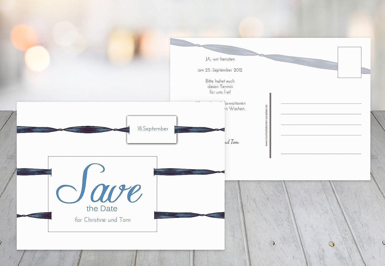 Kartenparadies Hochzeitskarte Save-the-Date loop label, hochwertige Save the Date Karte zur Hochzeit   40 Karten - (Format  148x105 mm) Farbe  KräftigHellMarineblau B01NBWNUW5 | Deutschland Berlin