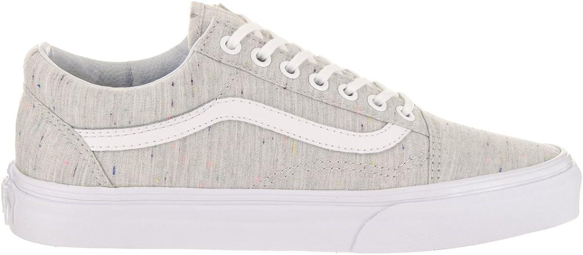 Vans Old Skool (Speckle Jersey) Gris Moda Zapatilla De Deporte De Mujer Zapatos