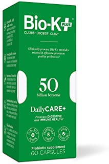 Bio-K+ Probiotic Supplement Capsule for Women & Men. 50 Billion Bacteria at Expiry Date. Delayed Release Capsule, Vegan & ...
