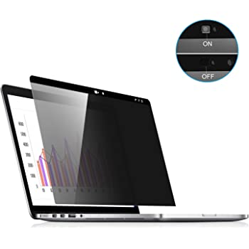 MacBook Pro 15 Privacy Screen,Laptop Webcam Cover- Privacy Screen Protector Compatible MacBook pro 15.4 inch (Late 2016-2019 Including Touch Bar) Anti-Spy Filter fit Privacy for MacBook
