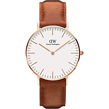 Daniel Wellington Classic Durham Watch, American Brown Leather Band