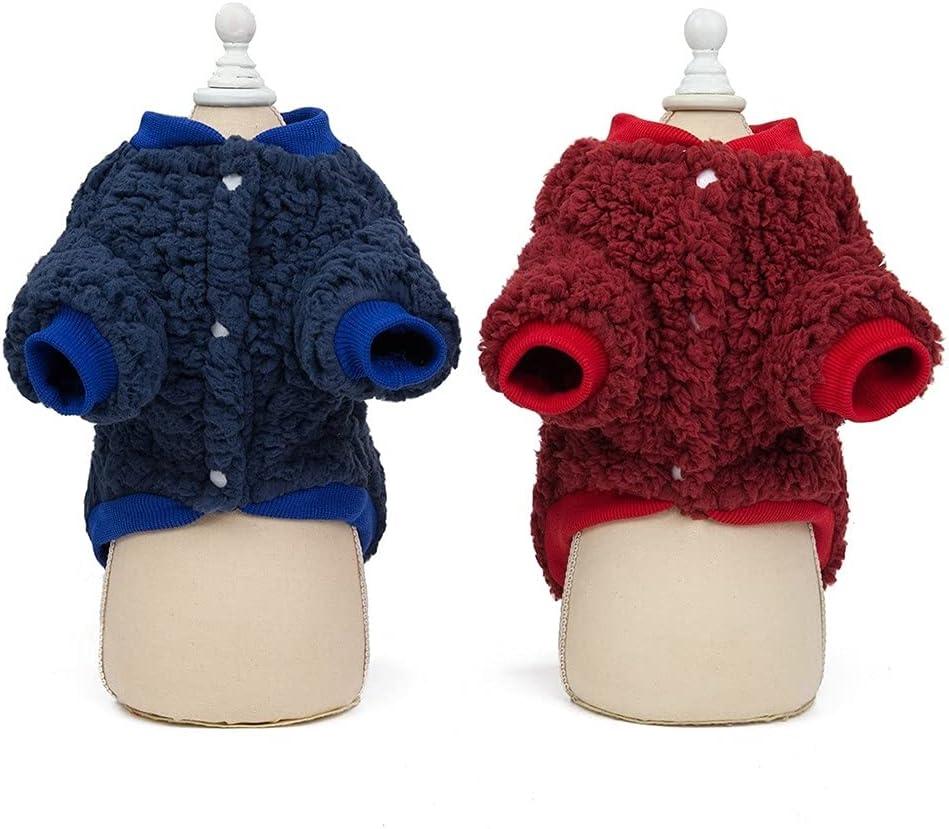 2pcs Dog Warm Opening large release sale Coat Coral Fleece Jacket Winter Pet Sweaters Vest Dedication