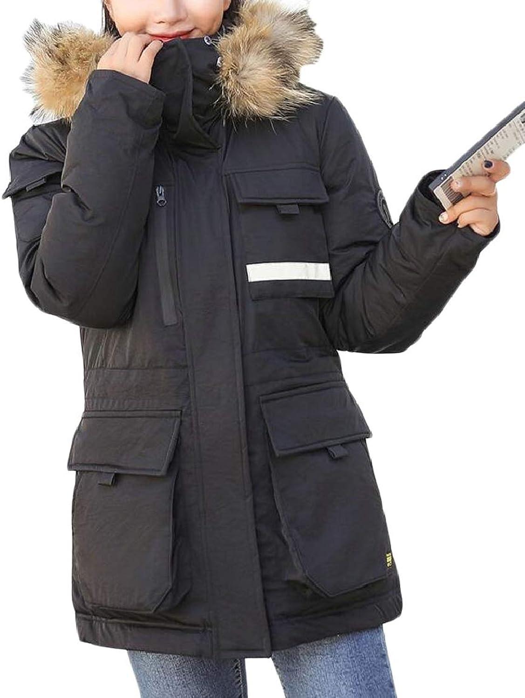 LKCENCA Womens Winter Warm Slim Outdoors Hooded Coat Jacket Outwear