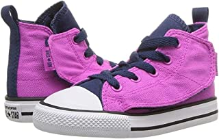 Kids Chuck Taylor All Star Simple Step Hi Infant/Toddler Hyper Magenta/Navy/White Girls Shoes