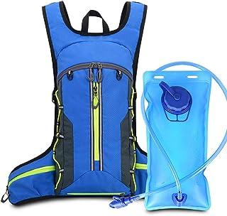 SH-QIAN 20L Deportes Al Aire Libre Que Acampan Bolsa De Agua Hidratación Mochila para Caminar Montar Camello Bolsa De Agua Paquete Vejiga Matraz Suave,Blue