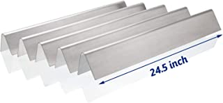 Utheer 7540 7539 Grill Parts Flavor Bars 24.5 Inch for Weber Genesis 300 Series E-310 E-320 S-310 S-320 ESP-310 ESP-320 EP/CEP-310 & 320 (with Side Control), 16 GA Stainless Steel Heat Plate