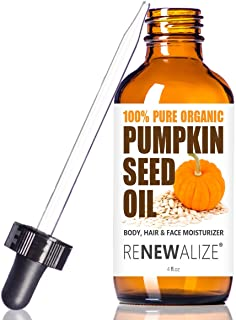 Renewalize ORGANIC PUMPKIN SEED OIL NATURAL FACE MOISTURIZER - Unrefined, Cold Pressed facial oils anti aging treatment fo...
