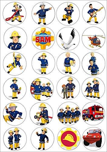 24 Muffin & Cupcake Aufleger Fondant Feuerwehrmann Sam C5