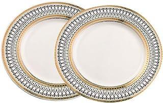 Dinnerware لوحة عشاء بيضاء ريترو تخزين لوحات مجموعة أواني الطعام السيراميك الحديثة ريفي خدش مقاومة Dining (Color : White ...