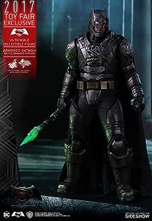DC Hot Toys Armored Batman Battle Damaged Version 1/6 Scale Batman vs Superman Ben Affleck Collectible Figure (2017 Toy Fair Exclusive)
