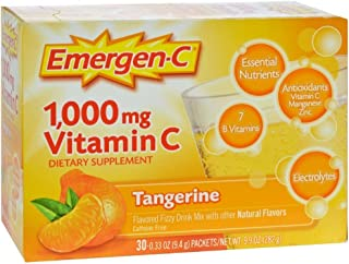 Emergen-C Vitamin C Tangerine Flavored Drink Mix 30 Packets, 0.33 oz (Pack of 3)
