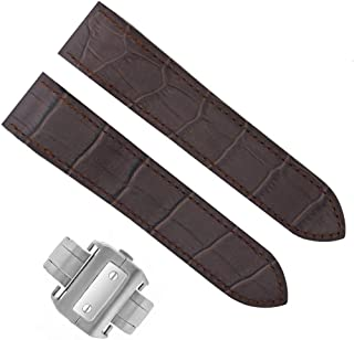 COMPLETE 24.5MM LEATHER STRAP BAND FOR CARTIER SANTOS 100 CHRONO XL D/CHOCALATE