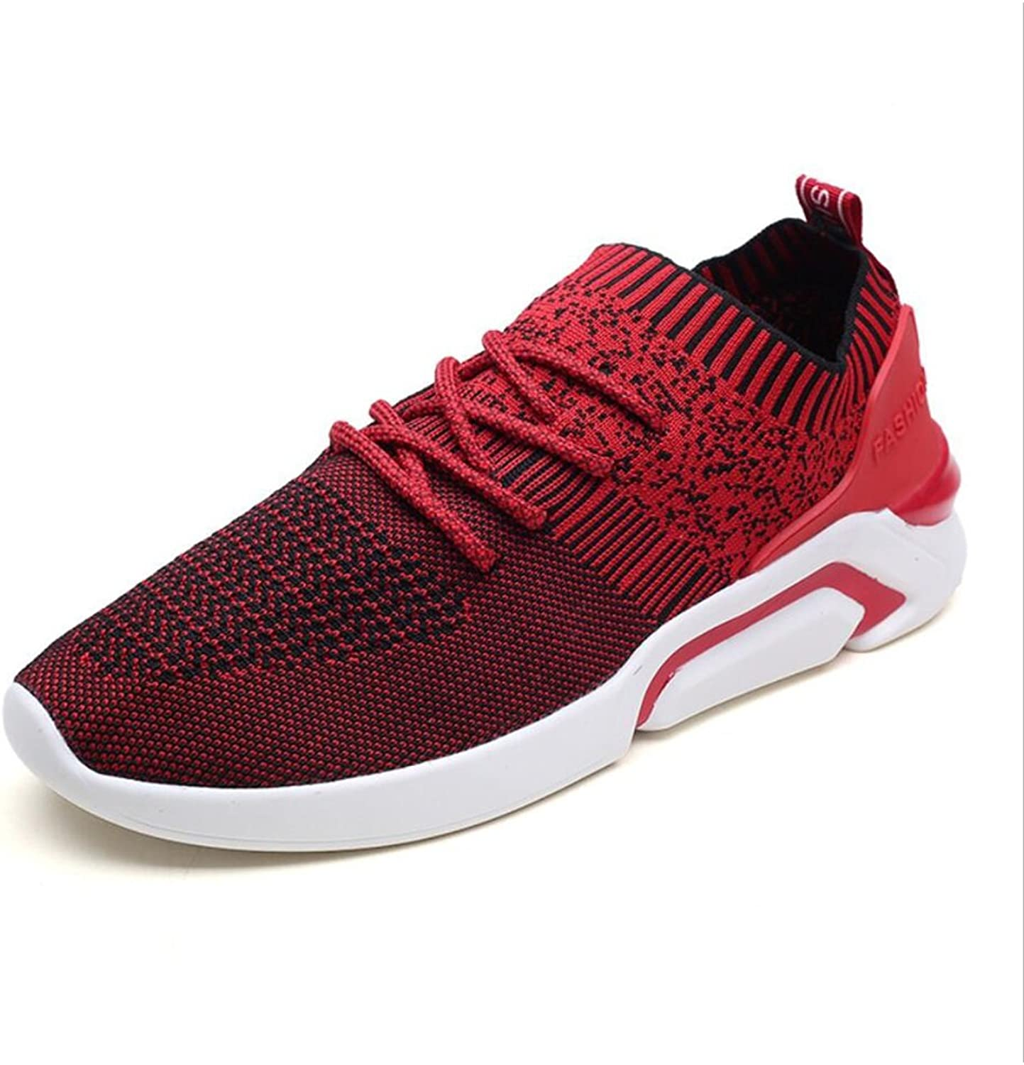Men's shoes ,Knit ,Spring Summer Fall ,Light Soles Athletic shoes ,Comfort Walking shoes , Outdoor Running shoes (color   A, Size   40)