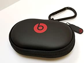 Hard Case + Black Carabiner/Hook for Powerbeats 3, 2 & 1, BeatsX, UrBeats, Tour, iBeats, Lady Gaga, Diddy Beats & All Beats Earphones/Earbuds Wired or Wireless Models. by:GeneralBuy.