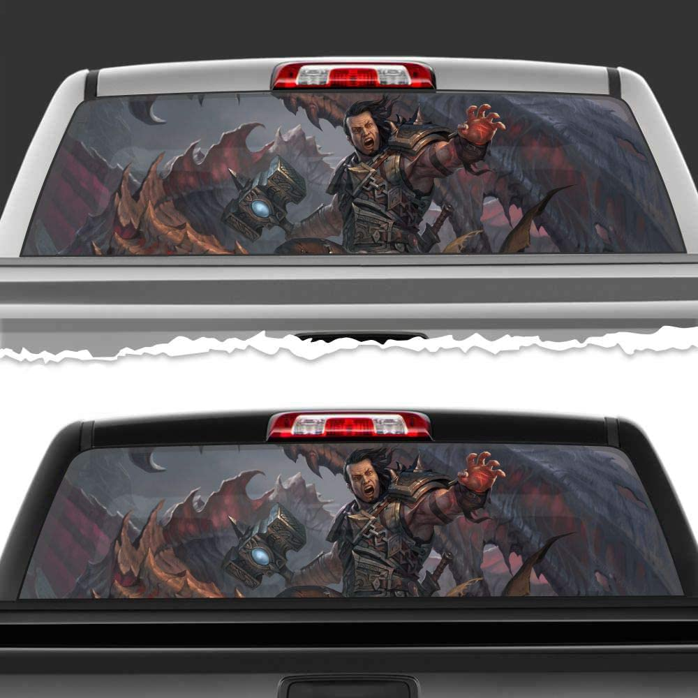 Simynola Limited time for free shipping Thor God Perforated Film Car Window W Accessories Truck Limited time trial price