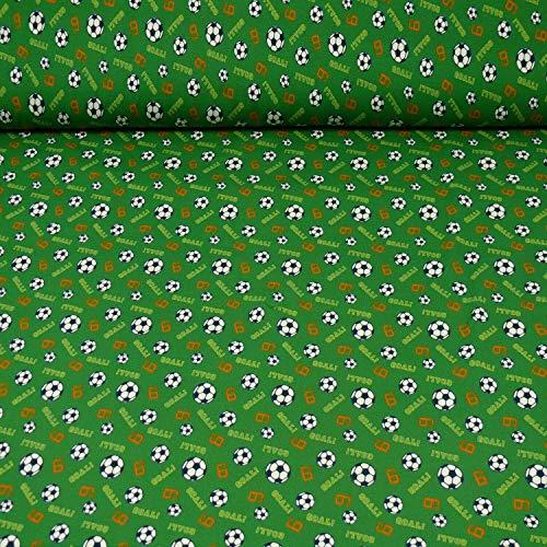 Jersey Soccer Game, Fußball/Fußbälle von Hilco, grün (25cm x 150cm)