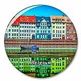 Bélgica Mini Europa Imán de Nevera, imánes Decorativo, abridor de Botellas, Ciudad turística, Viaje, colección de Recuerdos, Regalo, Pegatina Fuerte para Nevera