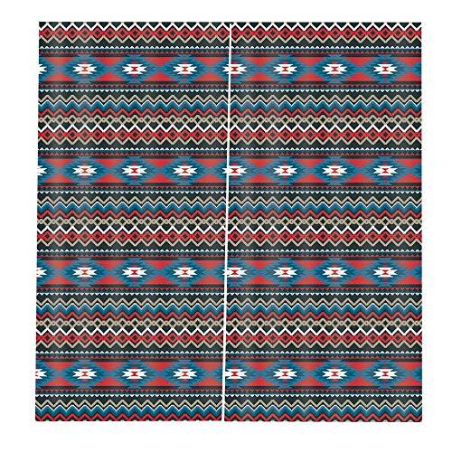 Tellaboull Pocos patrones étnicos Elegantes cortinas de Ventana de 170X200 cm para la cocina de la casa Sala de Estar Dormitorio Decoración de la Ventana