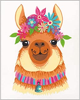 PaintWorks Flowery Llama Paint-by-Number Kit