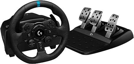 Volante Logitech G923 para PS5, PS4 e PC com Force Feedback TRUEFORCE, Pedais Responsivos, Launch Control e Acabamento em ...