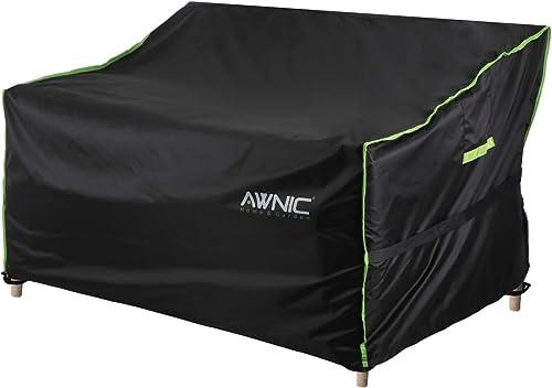 Awnic Funda para Banco de Jardín Patio Impermeable UV Resistente (Poliéster, Banco de 2 Plazas 134cm)