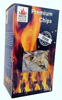 Chips de madera de manzana de Masterpiece, chips ahumados de manzana, virutas de ahumado 100% natural, tamaño aprox. 30 mm. Embalaje aprox. 750g