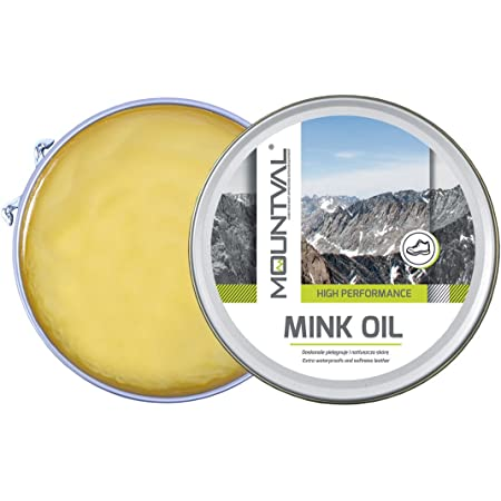 Mountval Mink Oil, Huile de Qualité pour Chaussures, Nourrissante Imperméabilisante pour Cuir