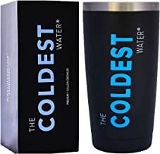 The Coldest Tumbler- Cup Hydro Pint 20 oz (Sliding Lid) - Beverages Hot and Cold 3x Longer, Durable Double Wall Insulated Thermos Flask - Black