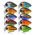 Sunlure Topwater Mini Crankbait Fishing Lures Kits Floating Swimbait Wobbler Hard Baits for Bass Trout Pike Freshwater and Saltwater 10pc-20pc/pack