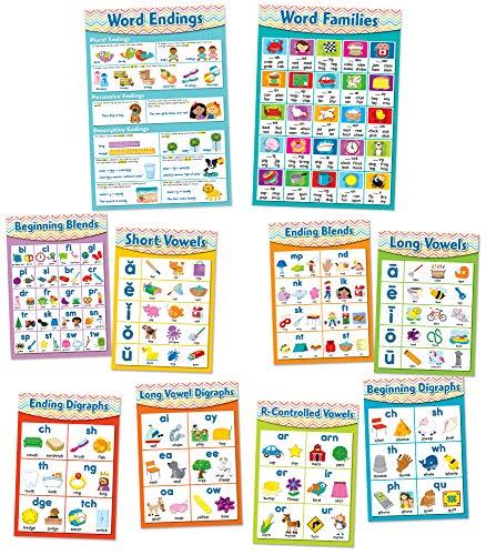 Carson-Dellosa CD-110258 Chevron English Language Arts Skills Bulletin Board Set