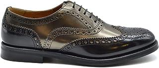 CHURCH'S Women's MCBI38175 Black Leather Lace-Up Shoes