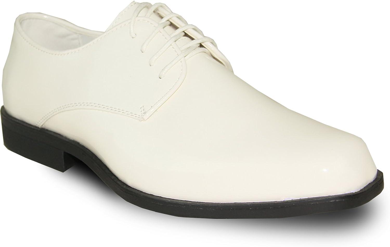 VANGELO Men's Tuxedo Shoes TUX-1 Wrinkle Free Dress Shoes Formal Oxford Ivory Patent