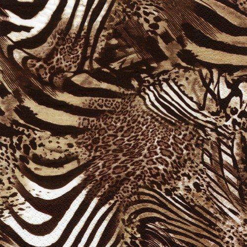 20 Servietten Be wild - Afrikanische Tiermuster/Tiere/Afrika 33x33cm (Badartikel)