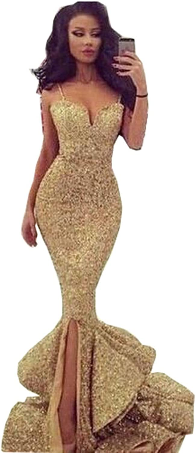 Beautydress Womens Mermaid Sequins Prom Dress Sexy Party Formal Gown BP131