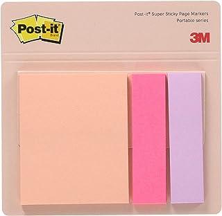 ポストイット 強粘着 付箋 フラップタイプ ふせん ポータブルシリーズ ピンク 50×13mm×1パッド 50×42mm×1パッド 各22枚 POF-S-P3