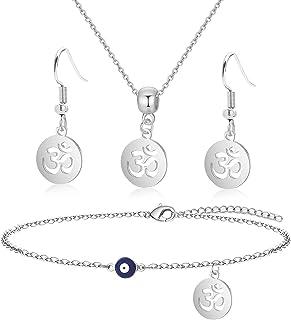 Yoga Lovers Jewelry Set India Symbol For Women Teen Yogi Earrings Set