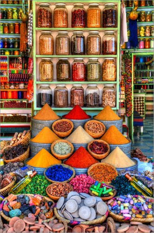 Posterlounge Acrylglasbild Acrylglasbild Acrylglasbild 40 x 60 cm  Gewürze auf Einem Bazar in Marrakesch von HADYPHOTO by Hady Khandani - Wandbild, Acryl Glasbild, Druck auf Acryl Glas Bild B01H36P738 181376