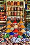 Poster 61 x 91 cm: Gewürze auf einem Bazar in Marrakesch