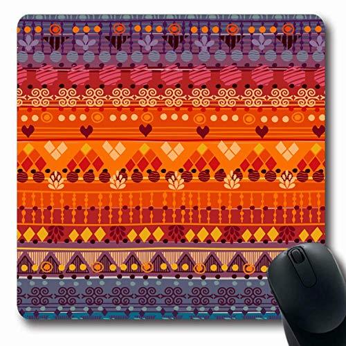 Jamron Mousepad OblongJackets Tribal Style Pattern kann niedlich sein Vintage Peru M枚bel Taschen verwendet abstrakte Texturen Fliesen rutschfeste Gummi Mauspad B眉ro Computer Laptop-Spiele Mat.-Nr.