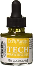 Dr. Ph. Martin's TECH10OZS12W TECH Drawing (12W) Ink Bottle, 1.0 oz, Gold Ochre