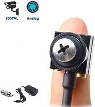 Mini Spy Hidden Camera HD 800TVL Portable Small CCTV Button Screw Cam Pinhole Convert BNC Security Camera Nanny Cam for Indoor Home Office Surveillance System Hidden Spy Video Cam DVR FPV by TPEKKA