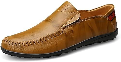 L.W.SURL L.W.SURL L.W.SURL Mocassins de Conduite décontractée pour hommesChaussures de Chaussures Mocassins Confortables et Confortables Poids léger 4e7