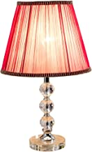 CJH Warm Gift Crystal Table Lamp Modern Simple Bedroom Bedside Lamp European Style Living Room Study Lamp
