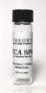 Trichloroacetic Acid 80% TCA Chemical Peel, 1/2 oz, 4 DRAM bottle, Medical Grade, Wrinkles, Fine Lines, Freckles, Scars, Age spots