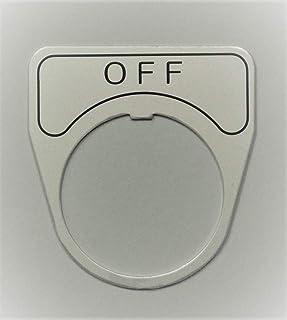 マルヤス電業 φ30スイッチ用銘板(アルミ)、表示 「OFF」、X-30-E102
